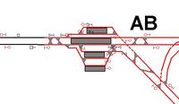 Bild: Abbildung eines Eisenbahnknotens